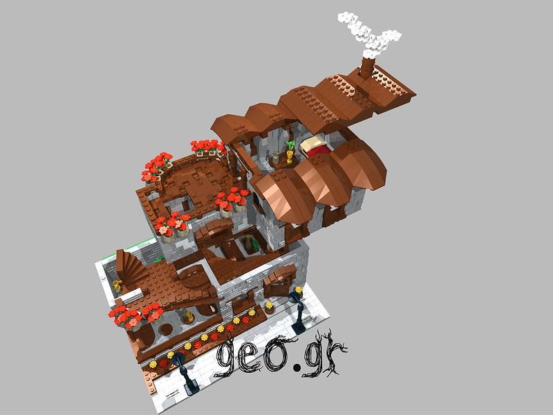 [Digital MOC]:Modular Cottage House 15111811050_46ec8f17eb_c