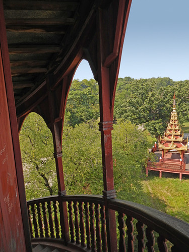 View from the Royal Palace Tower in Mandalay, Myanmar