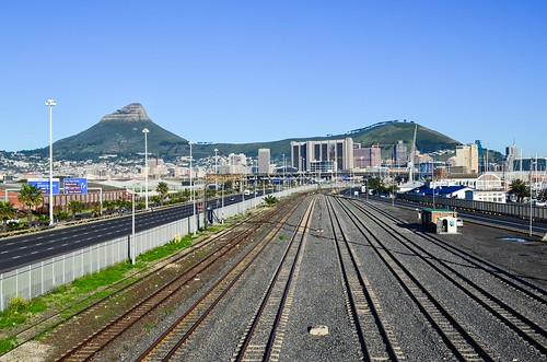 Railway lines at the Woodstock train station, Cape Town
