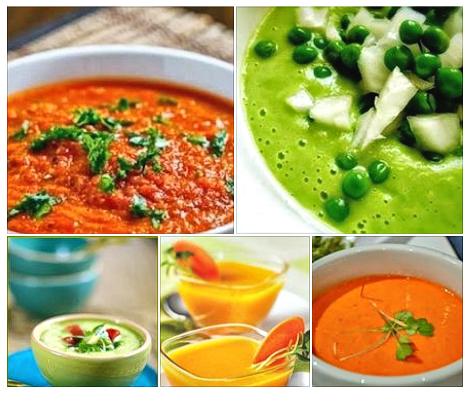 Lovely living cold soups.