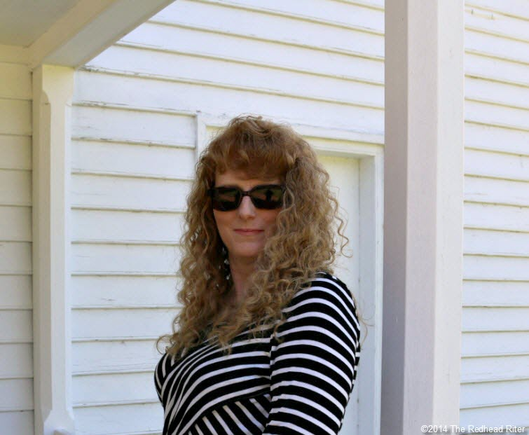 sherry redhead riter on back porch of plantation office -  Stonewall Jackson Died In Guinea, Virginia