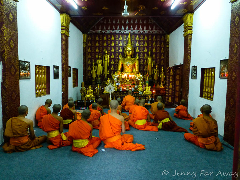 Evening prayers, Luang Prabang, Laos