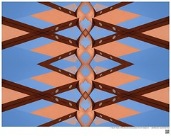 Modern Mandala Title: 5 Tips for People or Post and Lintel CSLA Luckman  Fine Arts Complex XX  #BartRoss ©2016  #calstatela #mirrored #artists_magazine #abstractphotography  #artprints #sharingart #Curator #LAart #surreal42 #abstraction  #ArtPho