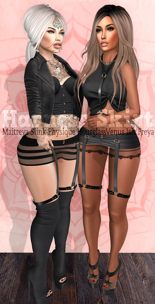 EmilyC Harness Skirt Maitreya Slink p+h Belleza - SecondLifeHub.com