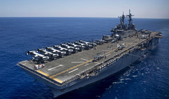 USS Wasp (LHD 1) file photo. (U.S. Marine Corps/Cpl. Ryan G. Coleman)