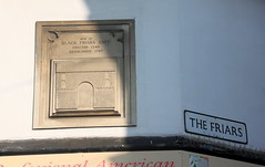 Photo of Black Friars Gate, Canterbury white plaque