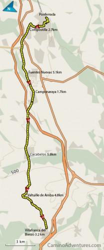 Ponferrada-to-Villafranca-del-Bierzo-map-209x500