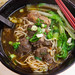 Large bowl of braised beef noodles