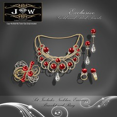 J&W-Jewelery-Charming-collection-Gold-and-Red--pearl