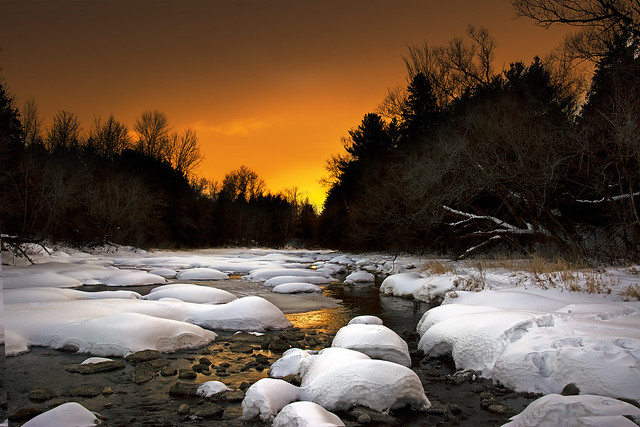 River Sunset - Jock River, Barrhaven, west Ottawa, Ontario, Canada (Explored)