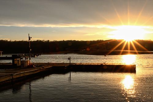park sunset sun ny newyork water suffolk huntington coldspringharbor billyjoelpark