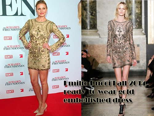 Emilio Pucci gold embellished dress