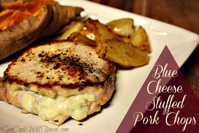 blue cheese stuffed pork chops
