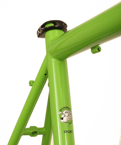 <p>Seat Cluster View of Gunnar Sport in Willow Green with Black Bullseye Decals.</p>