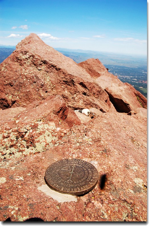 Benchmark on the summit of Bear Peak 4
