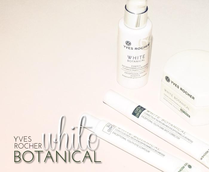 Yves Rocher White Botanical skincare range