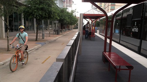Lance Armstrong Bikeway @ Austin Capital Metro Downtown Station