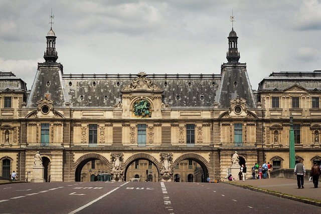 Strolling by The Louvre, Paris