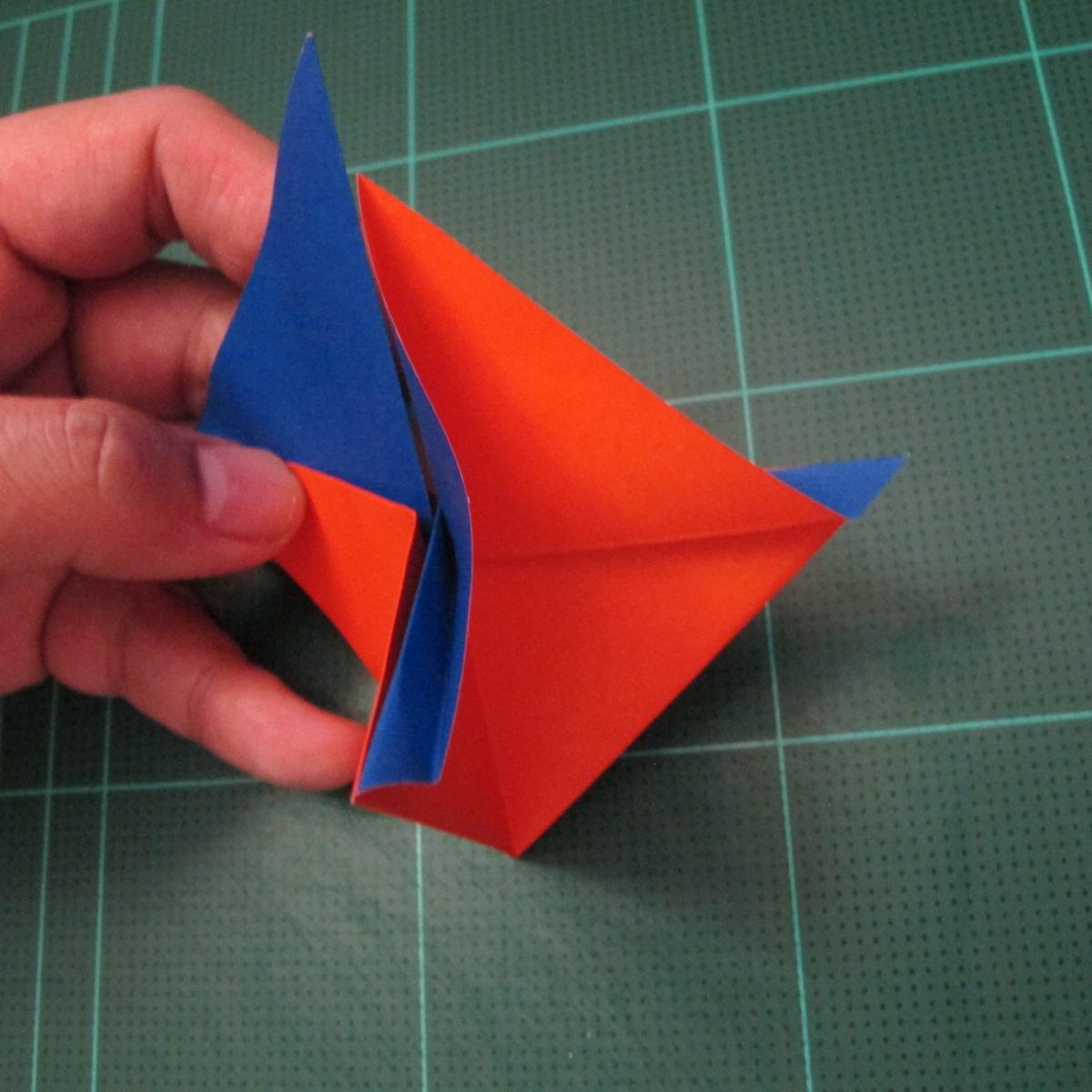 การพับกระดาษเป็นรูปเรือใบ (Origami Sail Boat) 006