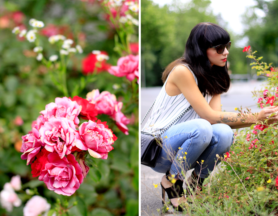 Urban Garden Zara dress worn as top jeans high heels summer outfit OOTD CATS & DOGS Ricarda Schernus berlin fashion blogger 6