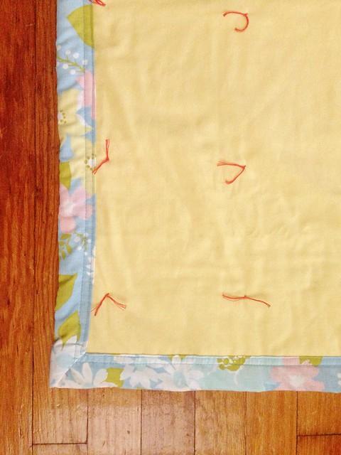 DIY Vintage Sheet Quilt