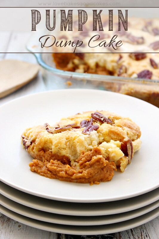 Full of Fall flavor, this Pumpkin Dump Cake is so easy and delicious! #pumpkin #cake #fallrecipes