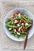 French beans salad with feta and balsamic