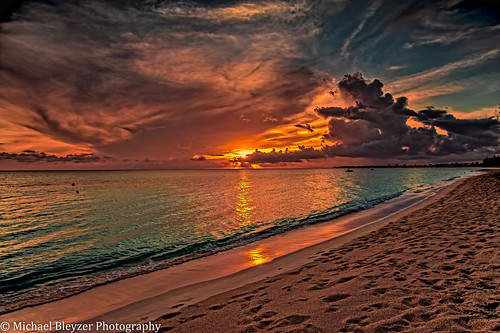 sunsets cayman ci hdr grandcayman smb sevenmilebeach