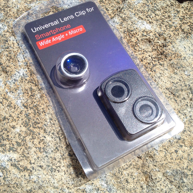Instant Swapping Clip with Wide Angle (+Macro) Lens for Smartphones / Tablets / iPhones / iPads
