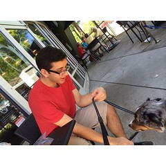 @ihelas_11 and Lucky. #starbucks