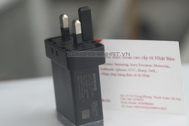 Củ sạc 3 chân Sony EP880 xịn 1,5A Made by Phihong