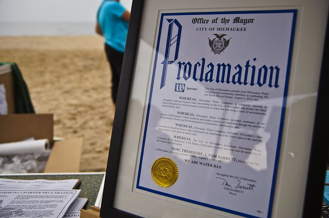 Mayor Declares it We Are Water Day in Milwaukee