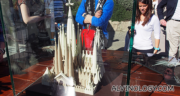 Scale model of how Sagrada Familia will look like when fully completed