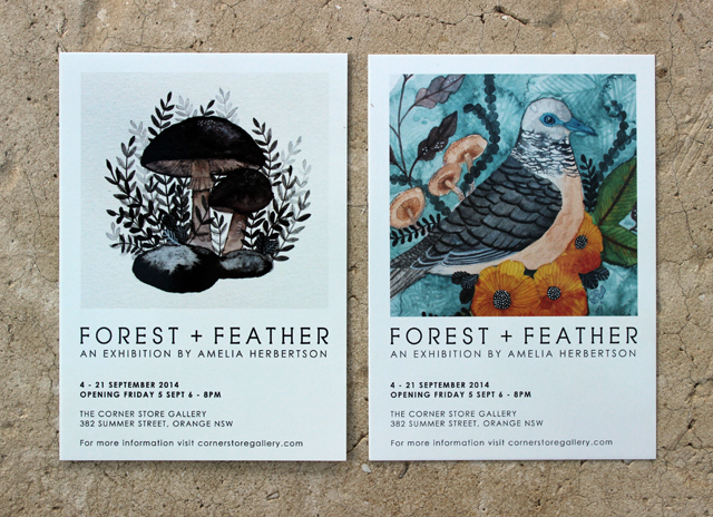 FLYER // Forest + Feather art exhibition