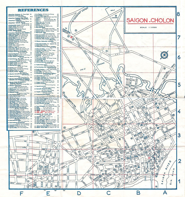 USO MAP OF SAIGON-CHOLON 1965