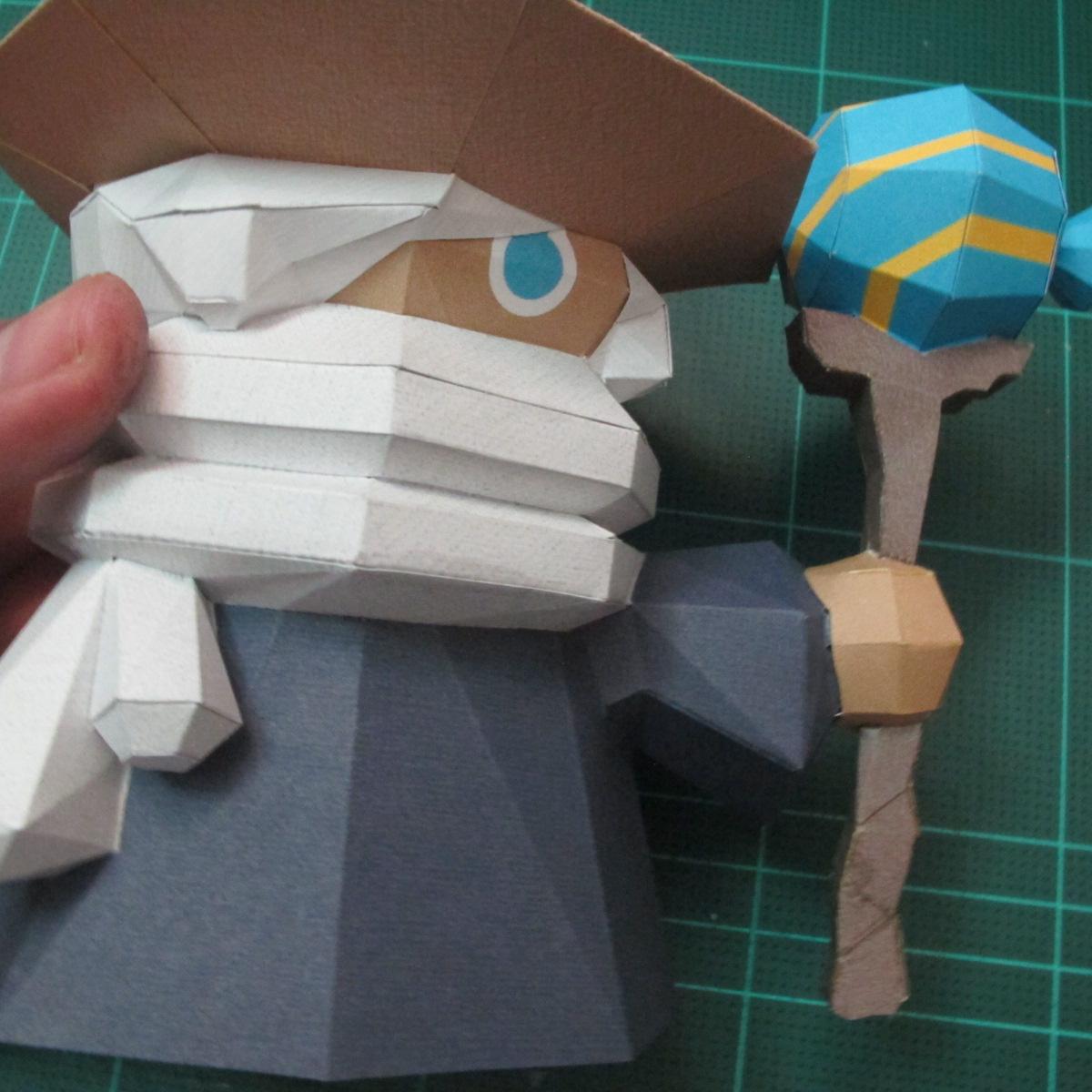 วิธีทำโมเดลกระดาษของเล่นคุกกี้รัน คุกกี้รสพ่อมด (Cookie Run Wizard Cookie Papercraft Model) 052