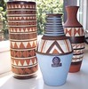 Handthrown Art-Pottery Sgraffito Vases (Udo Mertzdorf)