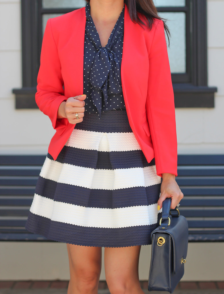 Navy Stripes, polka dots and red-3