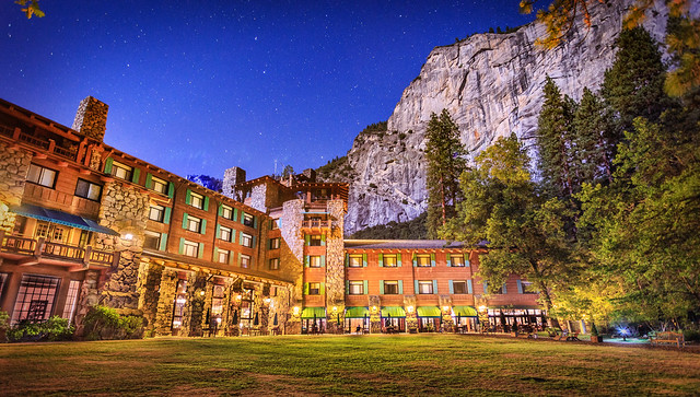 The Ahwahnee at Night