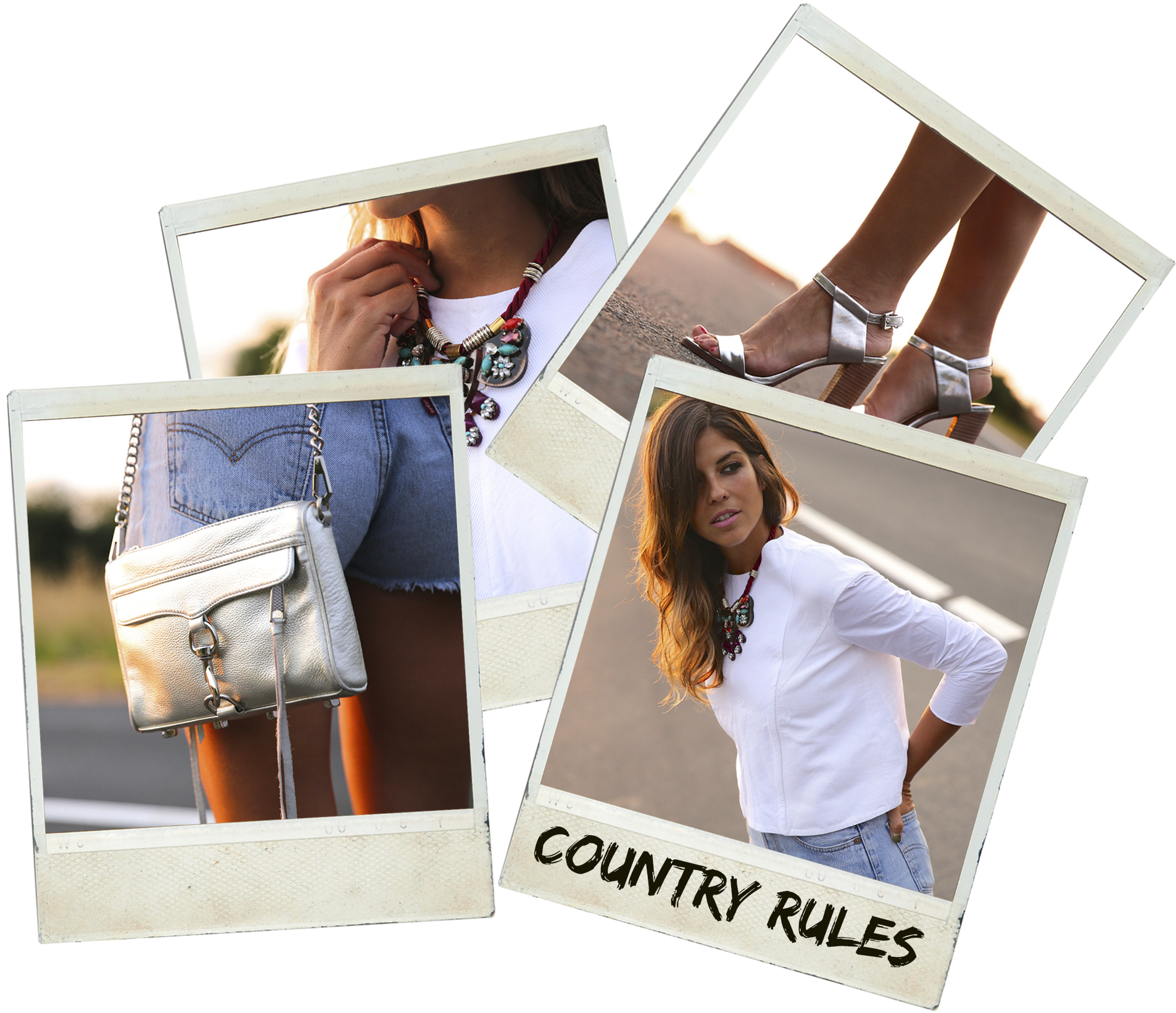 trendy_taste-look-outfit-street_style-ootd-blog-blogger-fashion_spain-moda_españa-coach-silver_sandals-sandalias_plata-white_top-top_blanco-levi's-denim_shorts-shorts_vaqueros-polaroid