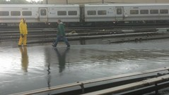 Flooding at LIRR Stations