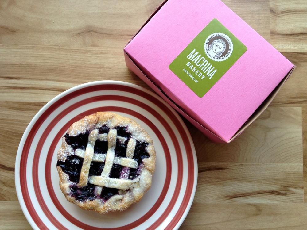 blueberry pie from Macrina Bakery