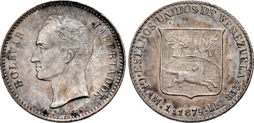 VENEZUELA, Republic. 1-5 Bolivar