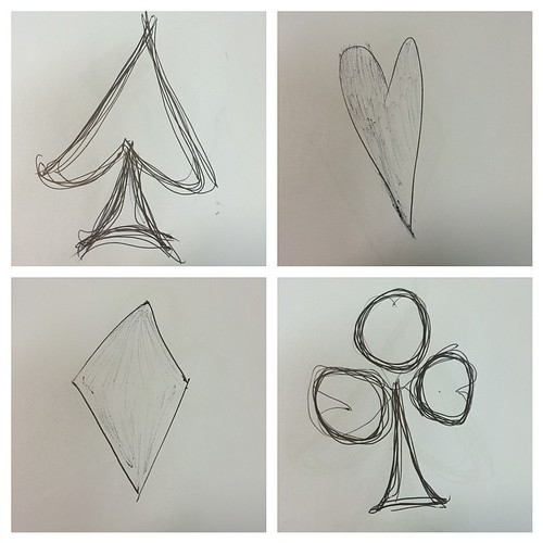 Playing cards in ink and dull seminar #sketches