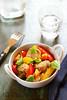 Agneau aux poivrons et basilic