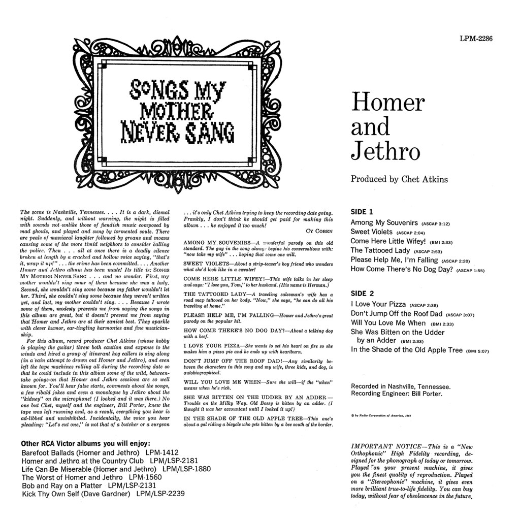 Homer & Jethro - Songs My Mother Never Sang