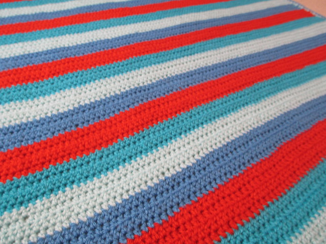 Seaside baby blanket