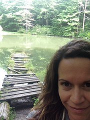 me at Monk's Pond (again!) Kripalu - august 2014
