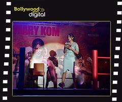 Priyanka Chopra interacts with the media at Reliance Digital