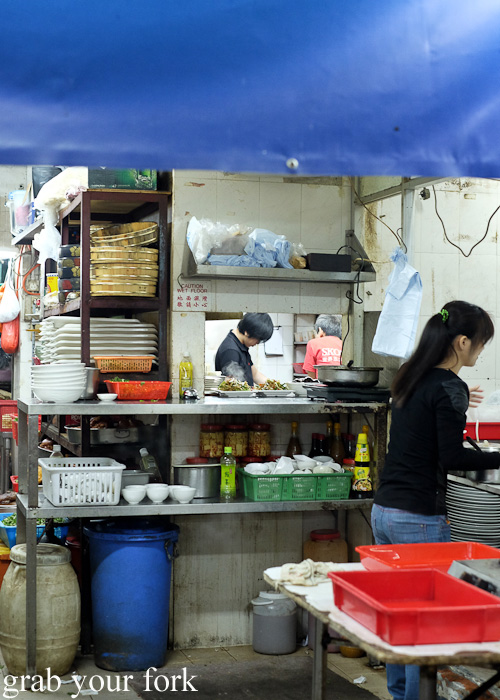 Kitchen set-up at Tai Chung Wah, Cheung Sha Wan, Hong Kong